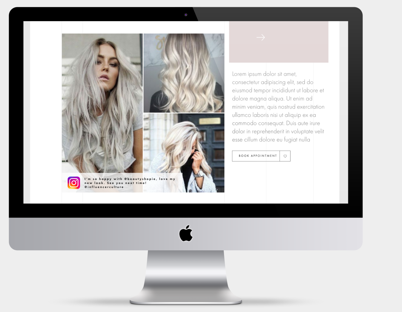 Booking button is conveniently placed beside a social media influencer's instagram post. Although there has been a small backlash against influencer culture as of late, many people still turn to influencers for inspiration, reviews and testimonials.