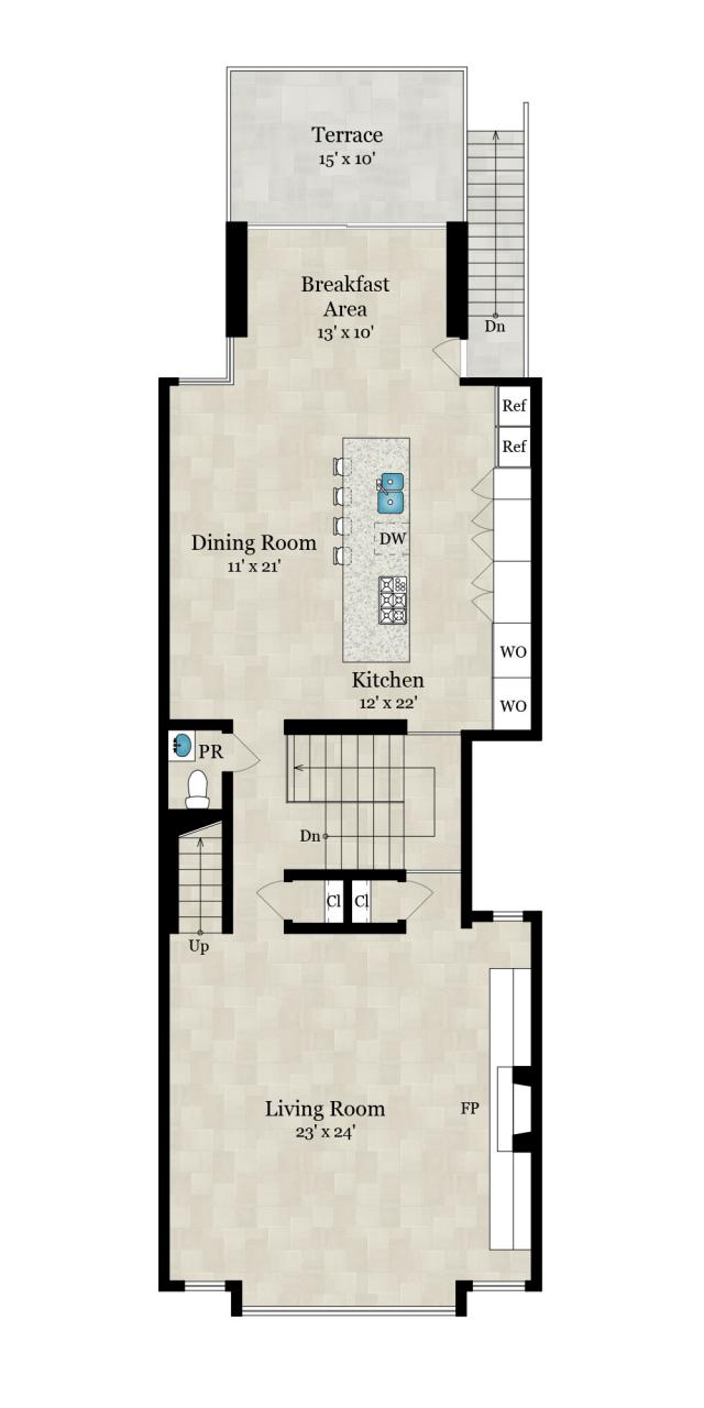 2nd Floor — 1,510 SqFt