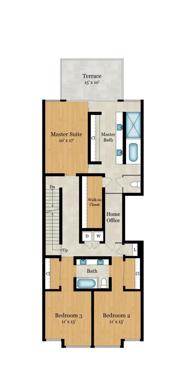 3rd Floor — 1,360 SqFt