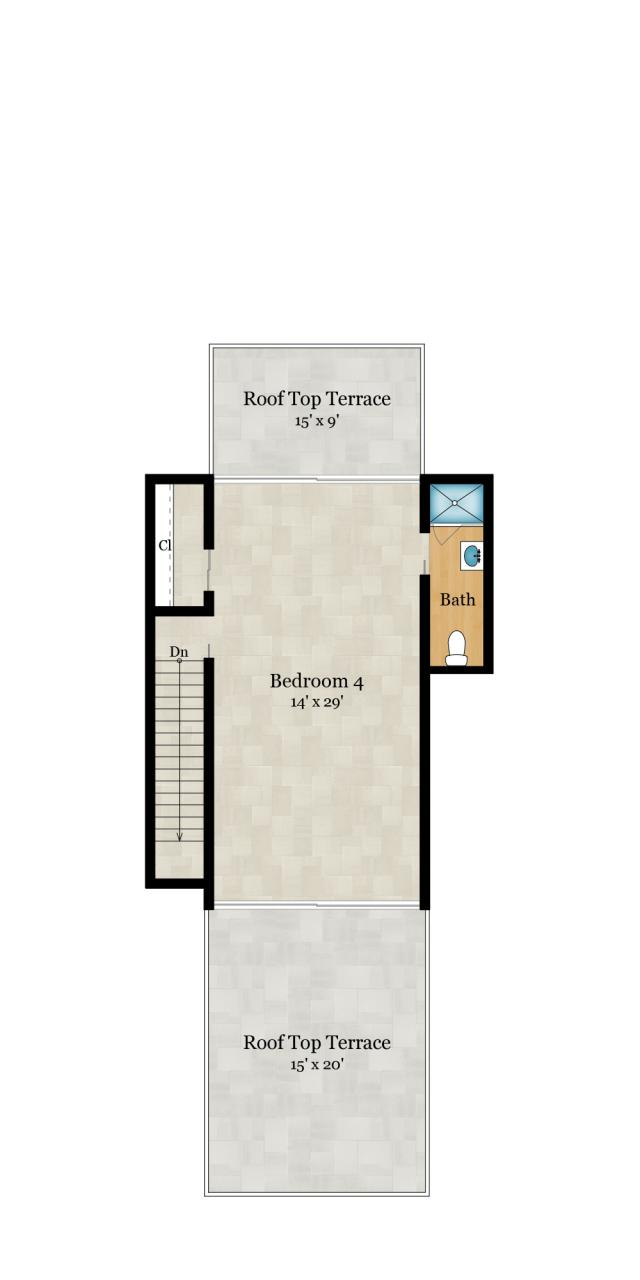 4th Floor — 645 SqFt