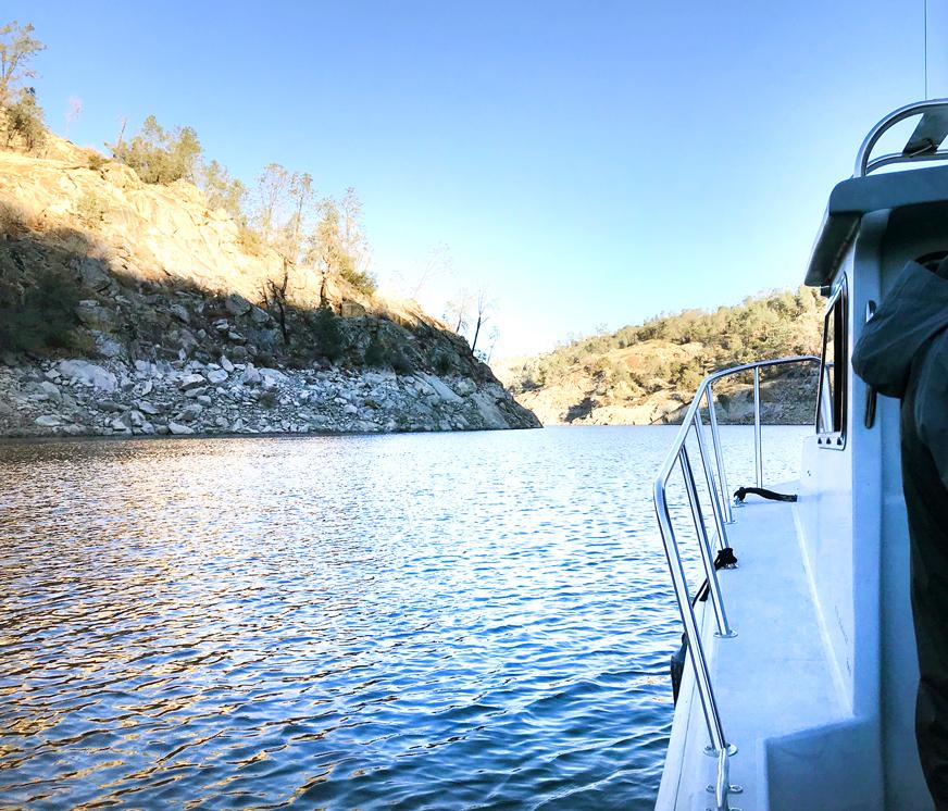 Heading toward proposed Temperance Flat Dam site