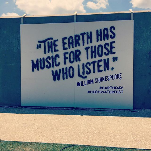 Happy Earth Day! #earthday #shakespearelives #highwaterfestival