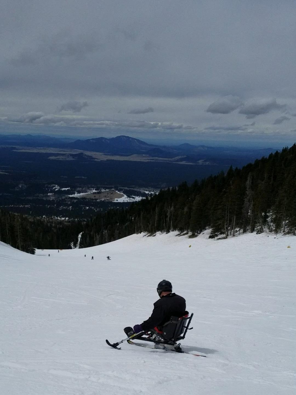 Dennis Grant on his mono ski