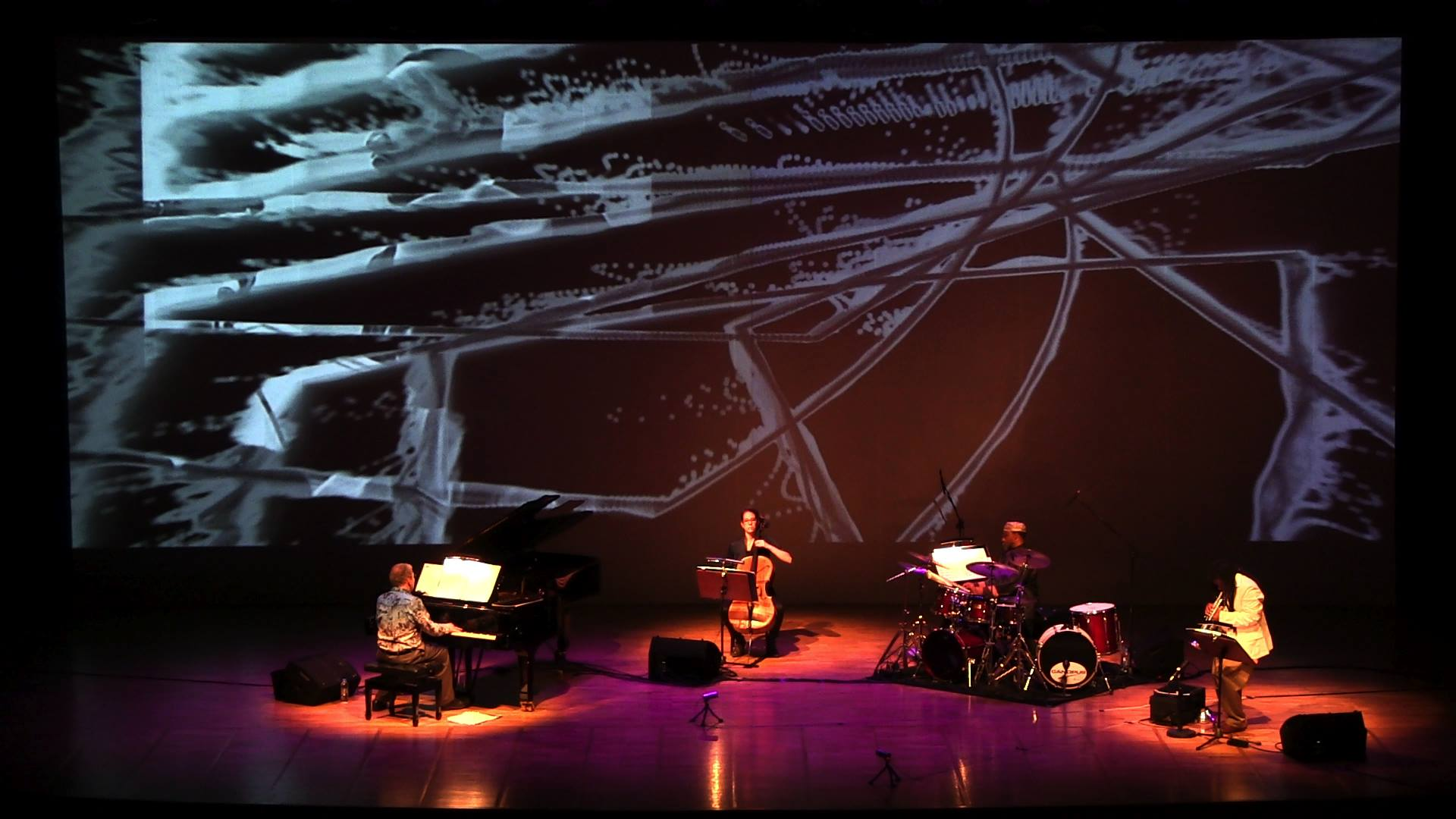 Wadada Leo Smith's Golden Quartet (Anthony Davis, Ashley Walters, Pheeroan akLaff, and Smith) at Cemal Reşit Rey Concert Hall in Istanbul