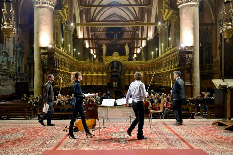Formalist Quartet (Andrew McIntosh, Ashley Walters, Andrew Tholl, and Mark Menzies) at Basilica di Santa Maria Gloriosa dei Frari in Venice, Italy