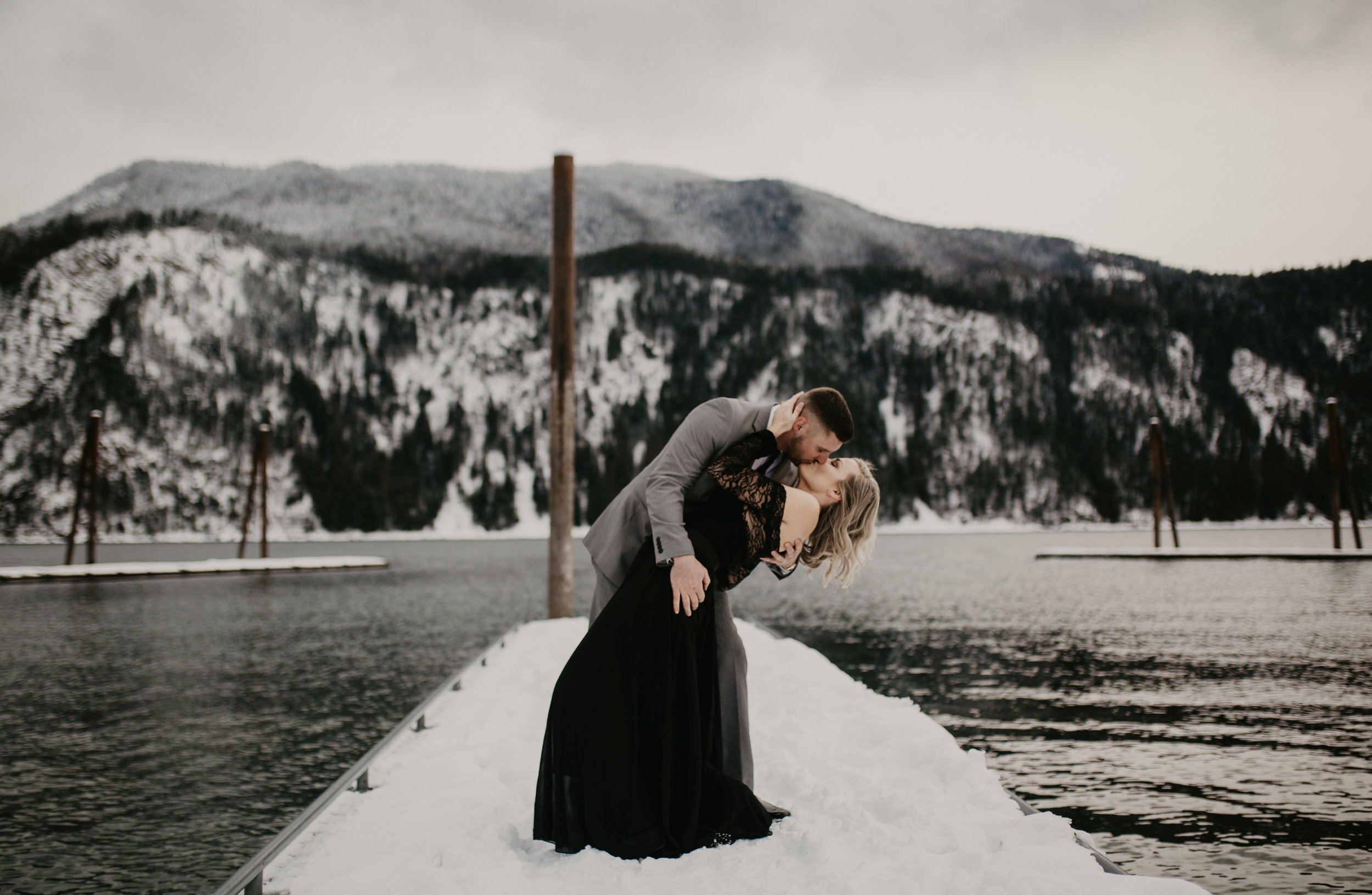 Intimate Bride and Groom wedding session in Idaho