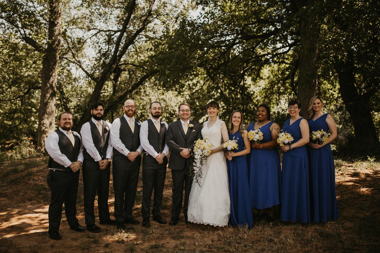 Bridal party photoshoot