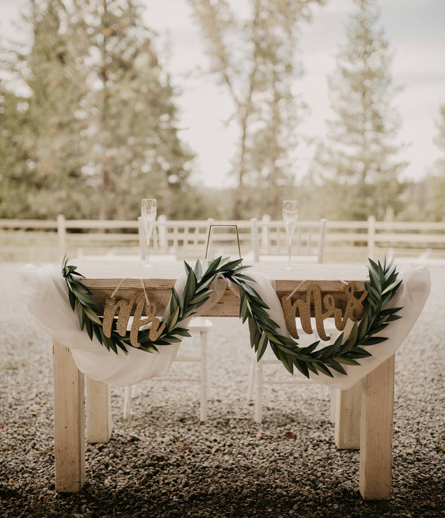 Sweetheart table for the bride and groom in Coeur d Alene, ID