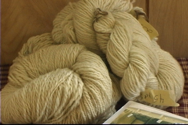 Once the spinning was done, the yarn that resulted was handed off to the dyer and weaver.