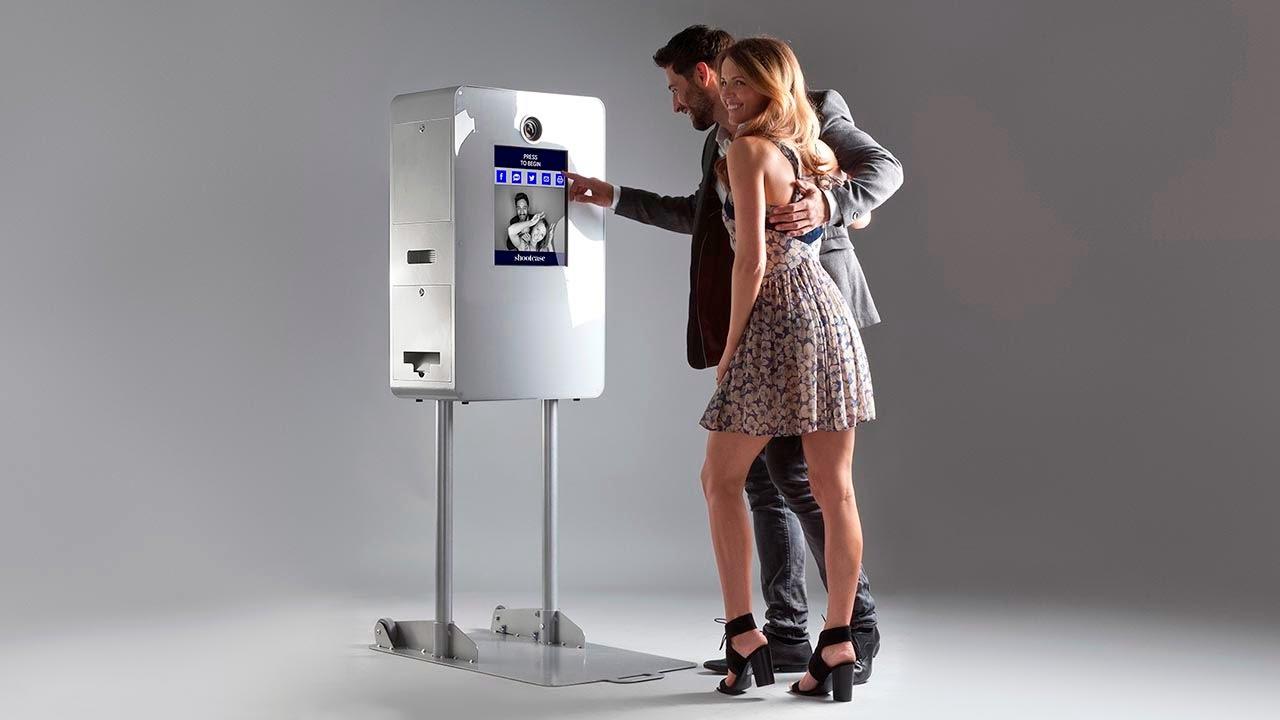 Stijlvolle en professionele photo booth voor een leuke gebruikerservaring en hoge kwaliteitsfoto's.