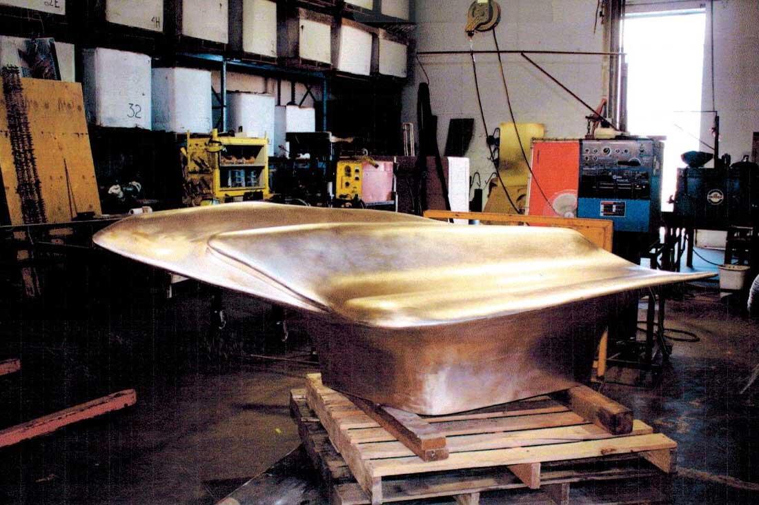 2010 bronze fabrication of wind -