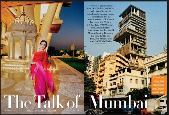 2010 Two commissioned bronze works placed in lobby of the ambani residence, Mumbai, India. -