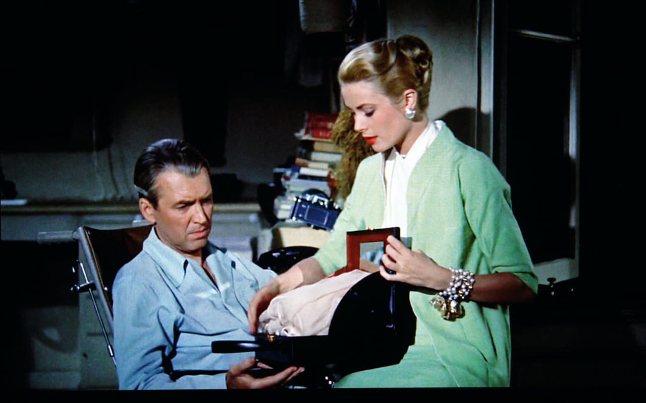 "Grace Kelly with her Mark Cross overnight case in ""Rear Window"" (Alfred Hitchcock, 1954) Image Credit : Mark Cross"