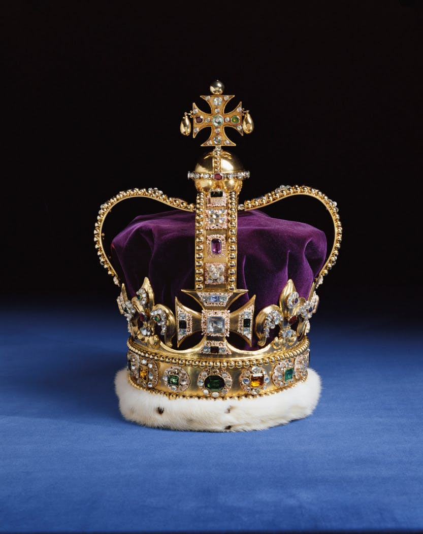 Image: St Edward's Crown, 1661.  © Her Majesty Queen Elizabeth II 2001/Prudence Cuming Associates