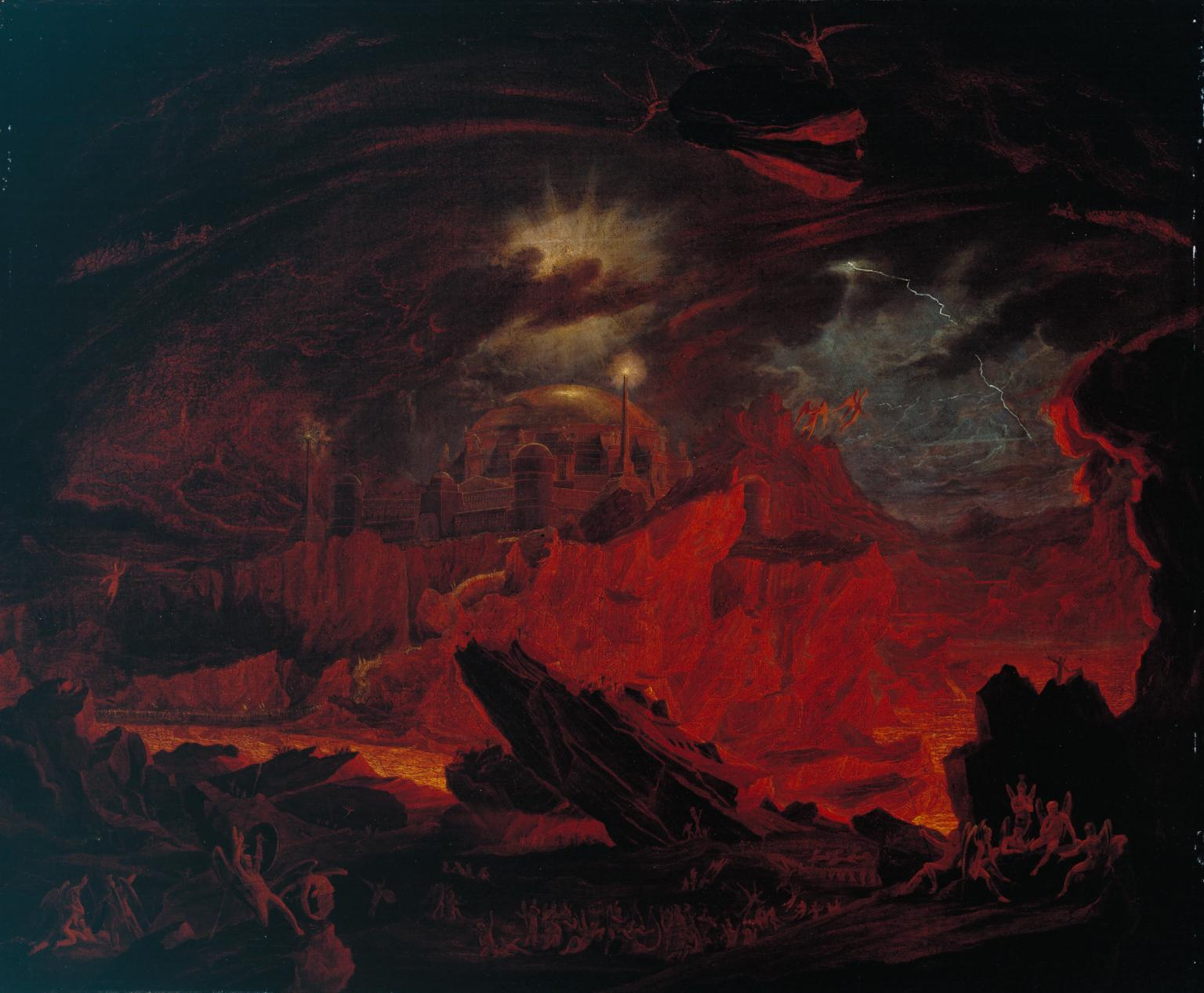 Fallen Angels in Hell , Painting by John Martin (Public Domain), 1841