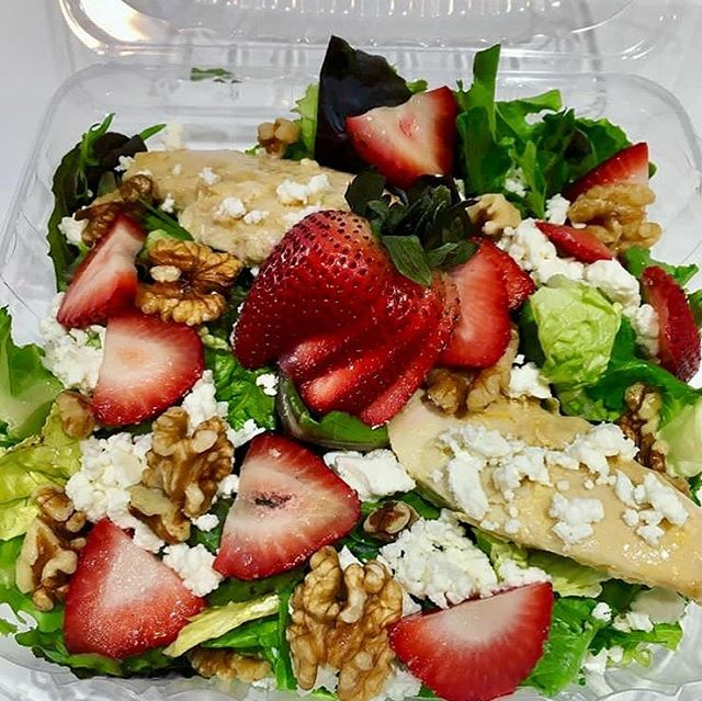 We're on instagram... #Fresh favorite...our Strawberry walnut salad with feta is the best way to start you week! 🍓🥗 . . . #shopsmall #youarewhatyoueat #eatclean #salad #fresh #shoplocal #homemade #yummy #yum