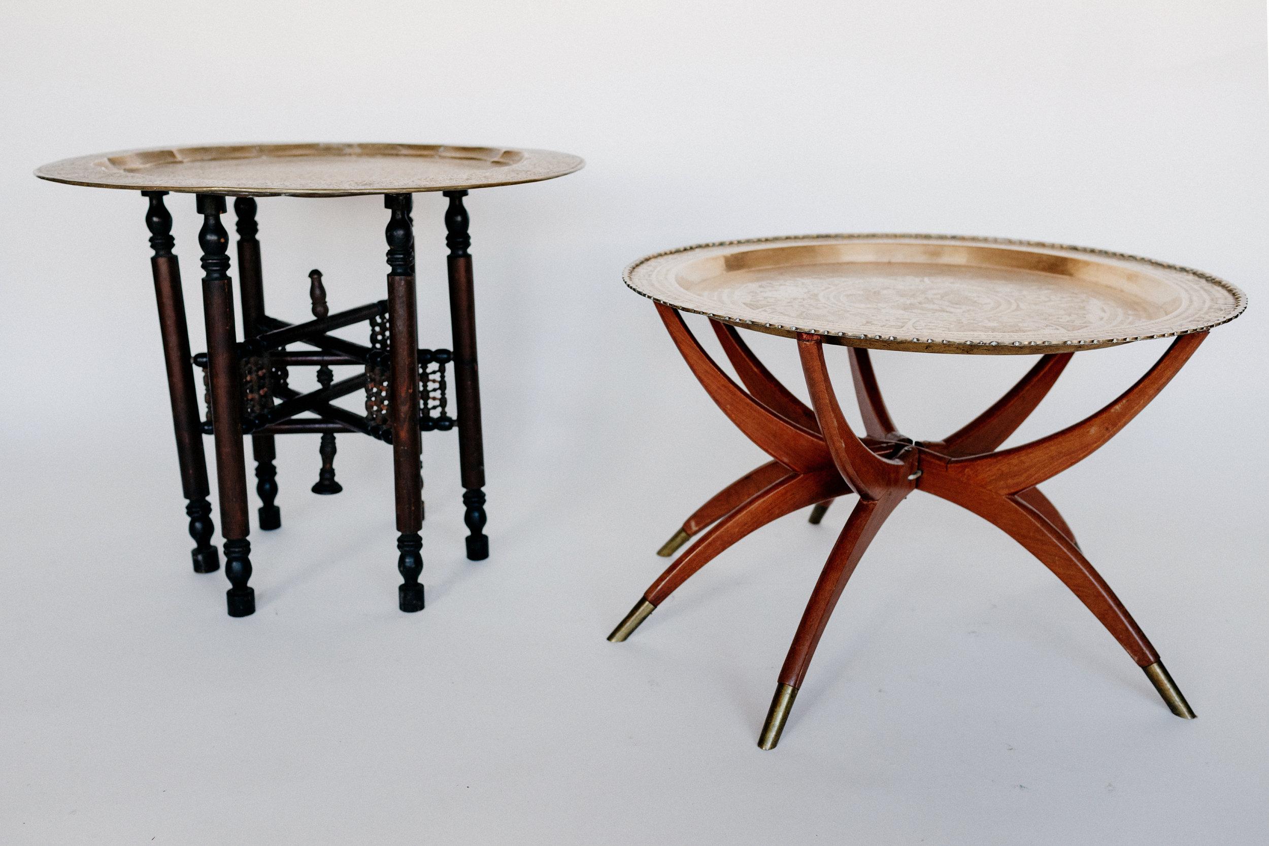 Brass Tray Folding Tables
