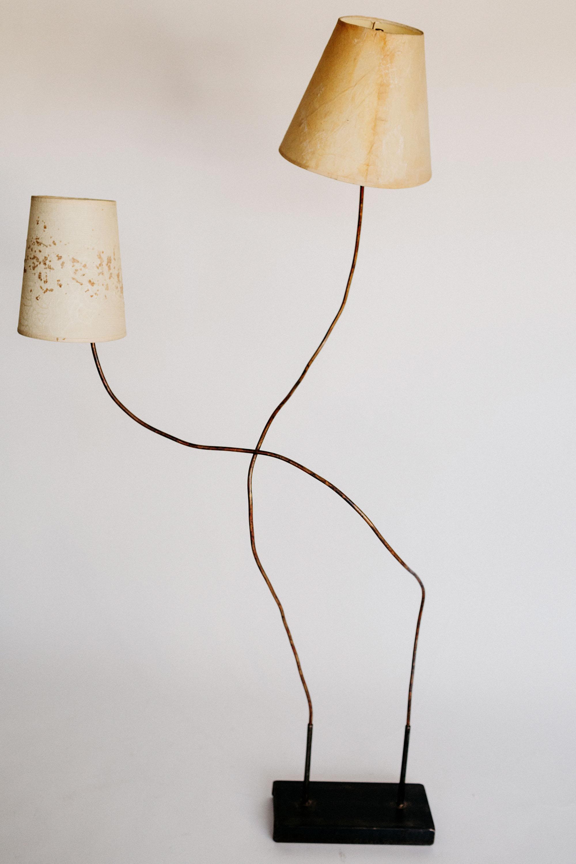 Carmen Copper Floor Lamp