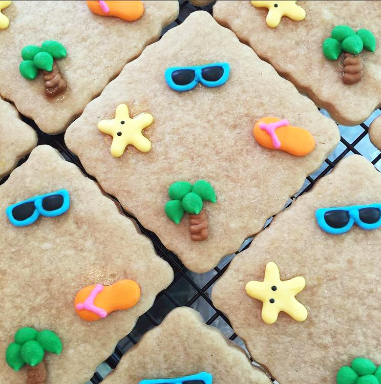 Our Sugar and Spice cookies with fun summer decor!