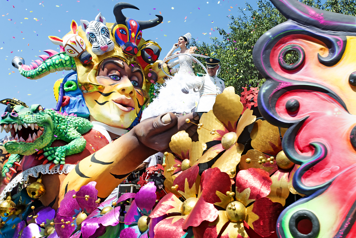 3.   Baranquilla Carnival Queen during the Batalla de Flores parade EClark.jpg