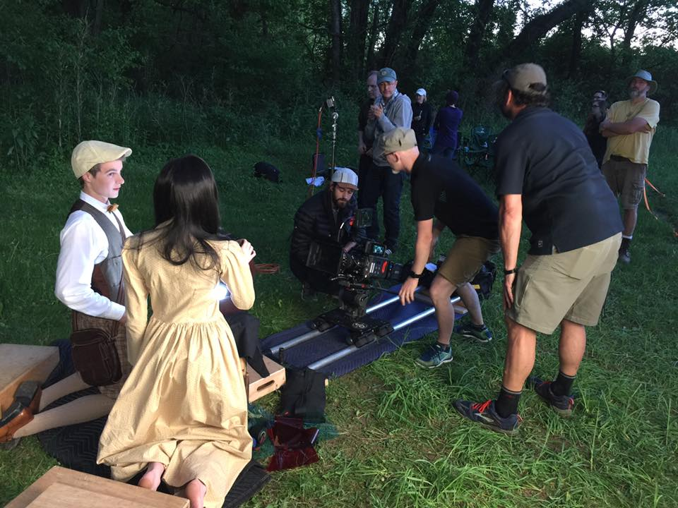 "Setting up a shot for ""Serafina and the Splintered Heart""."
