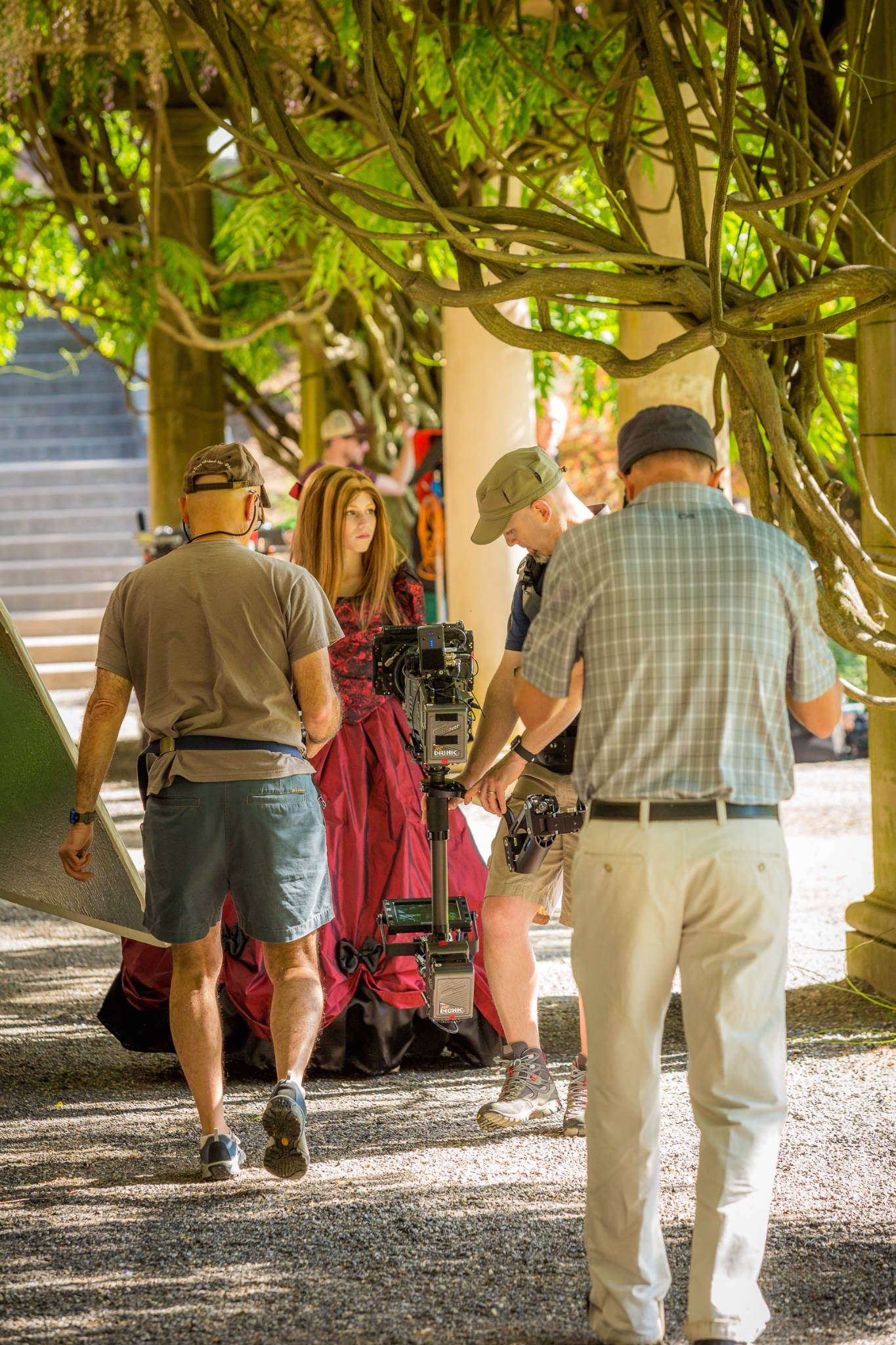 "On the Biltmore Estate, during the filming of ""Serafina and the Black Cloak."""