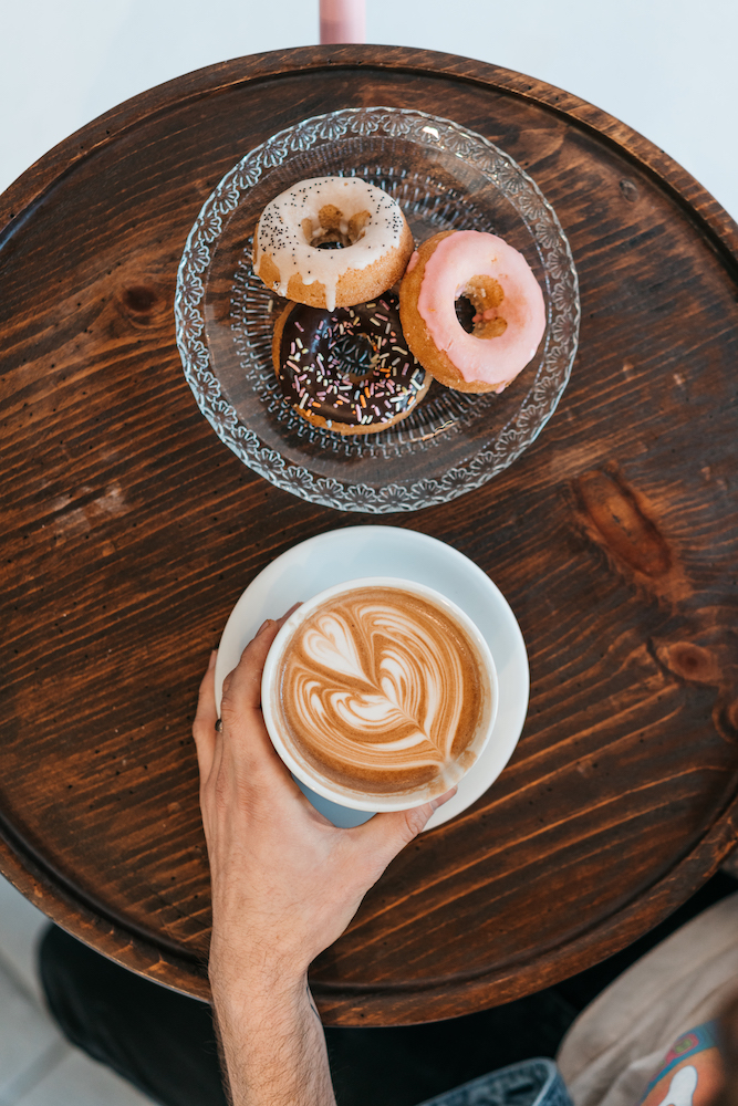 Dayglow  Vegan donuts and mocha