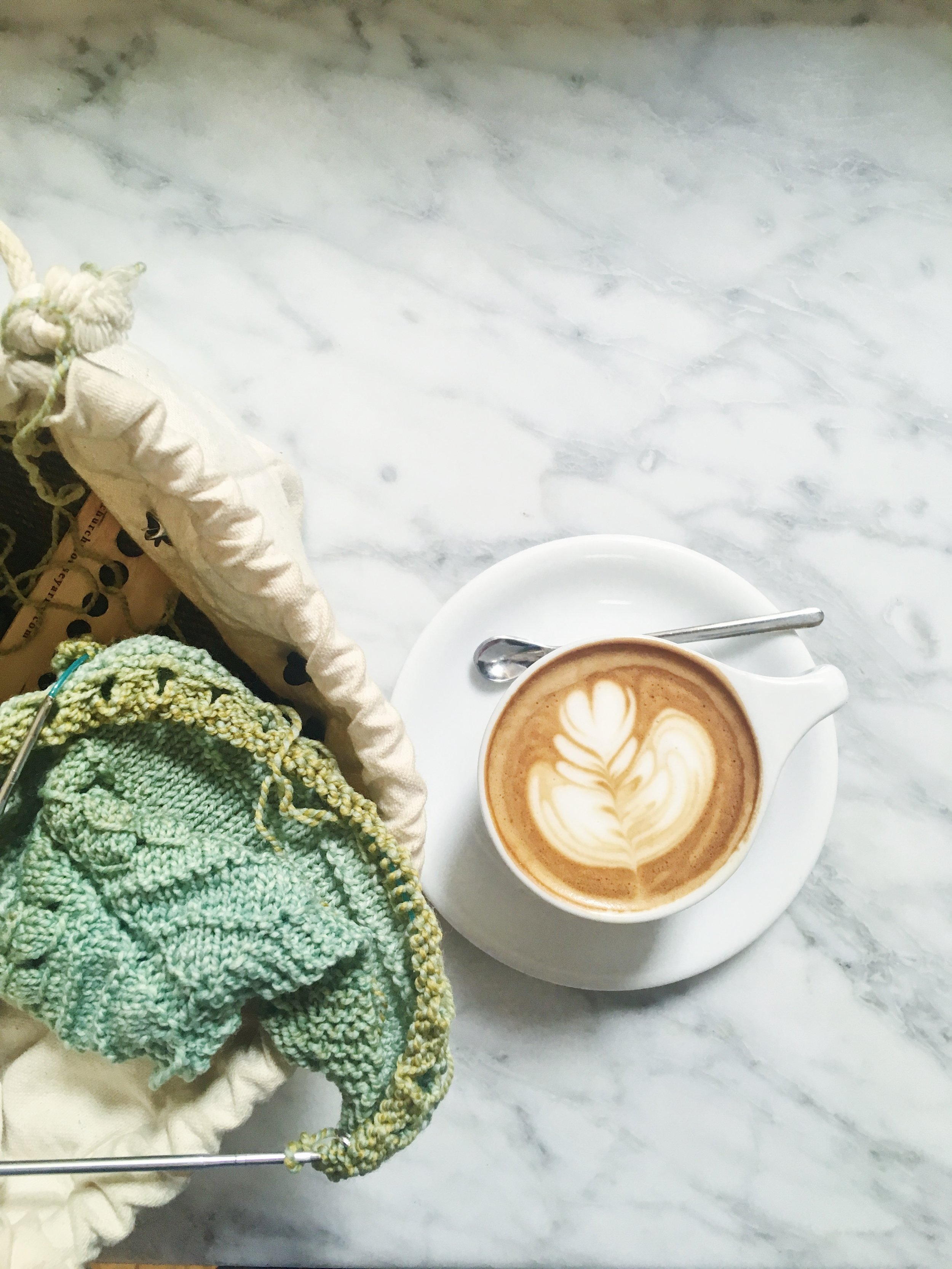 Coffee & a WIP at Intelligencia