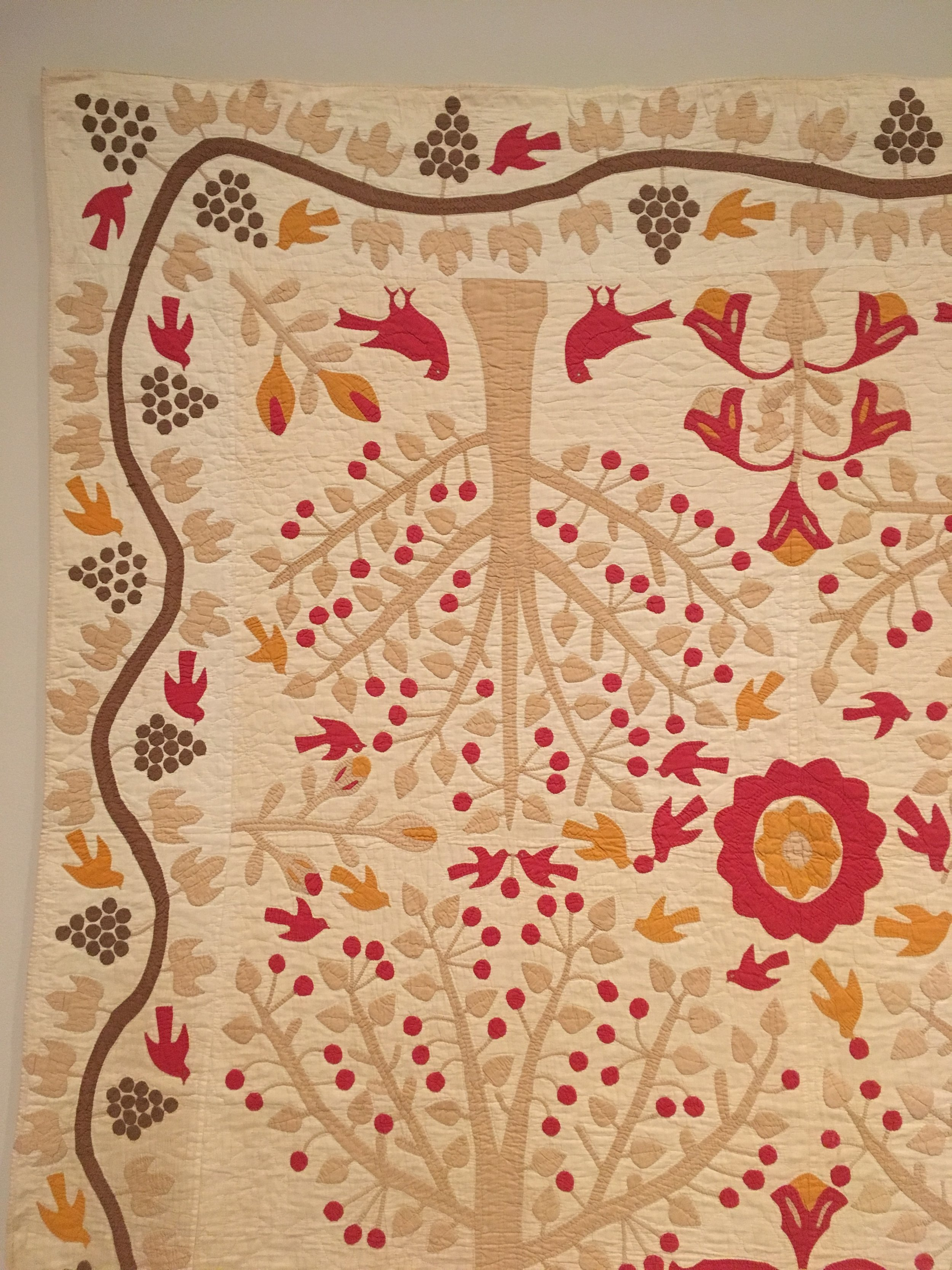 My favourite quilt from the Art Institute. I love the inverted and repeated images.