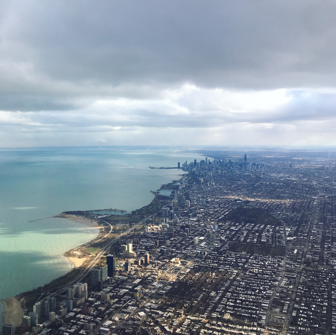 the city from the sky
