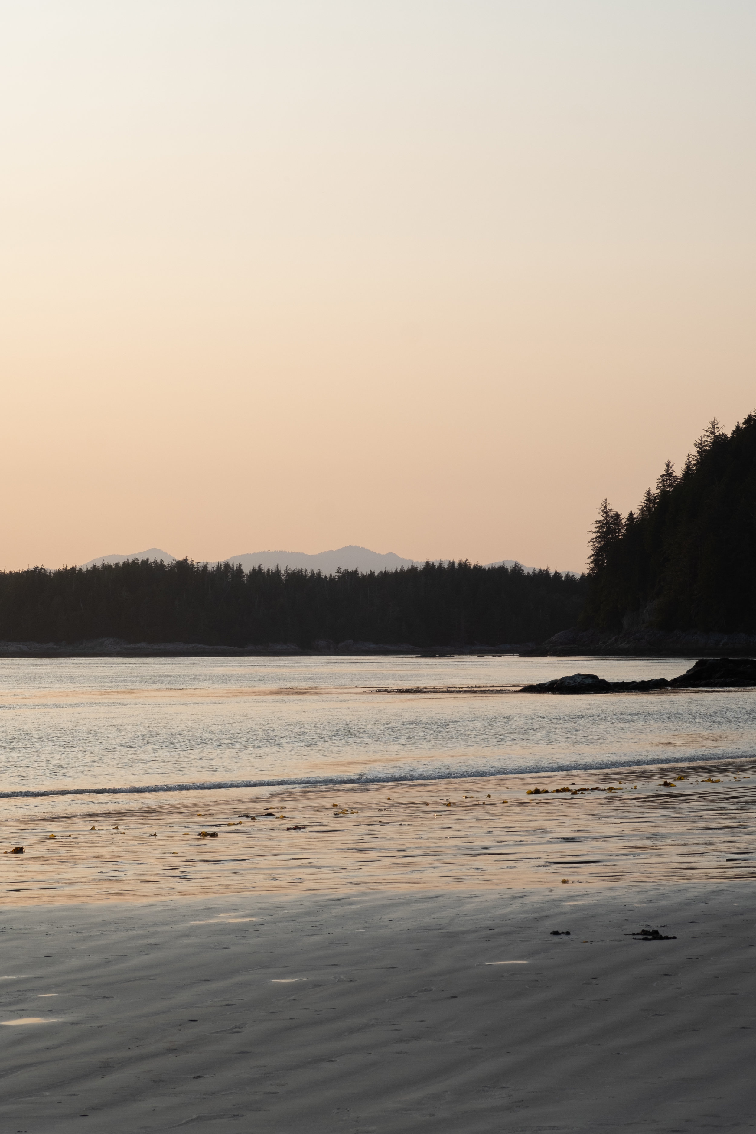 Middle Beach at sunset