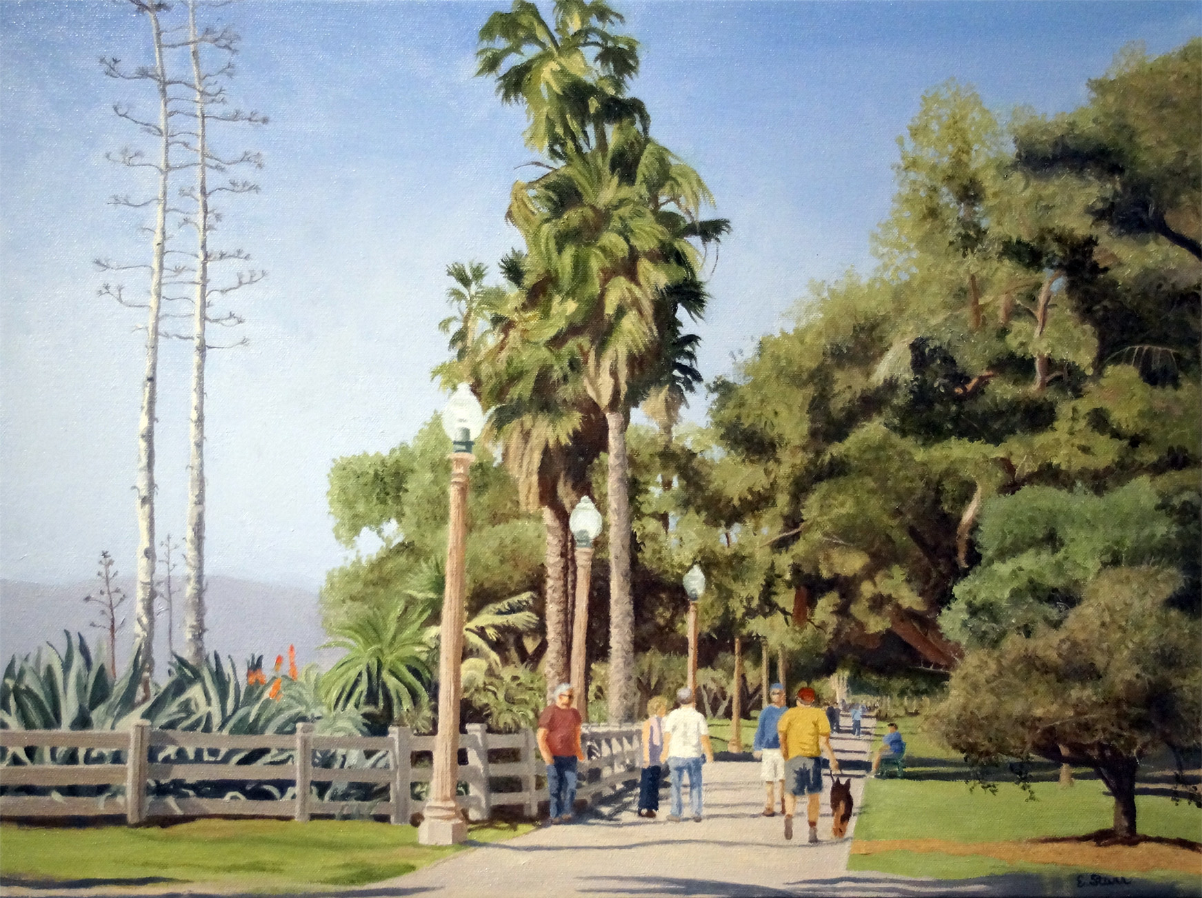 "Palisades Park , Water Soluble Oil Paint, 19.5"" x 25.5"""