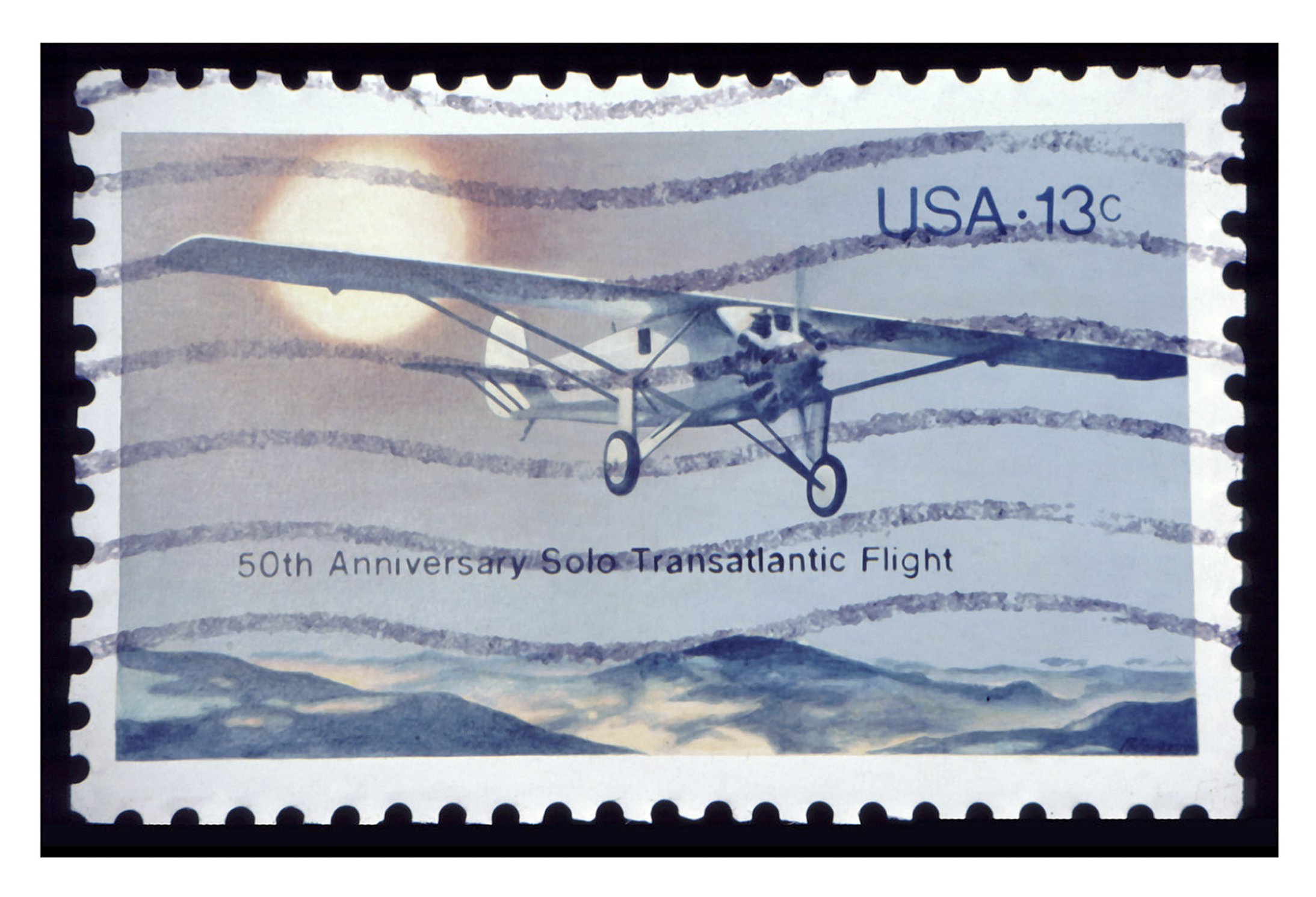 "50th Anniversary Transatlantic Flt, Acrylic on Canvas, 20"" x 29.5"""