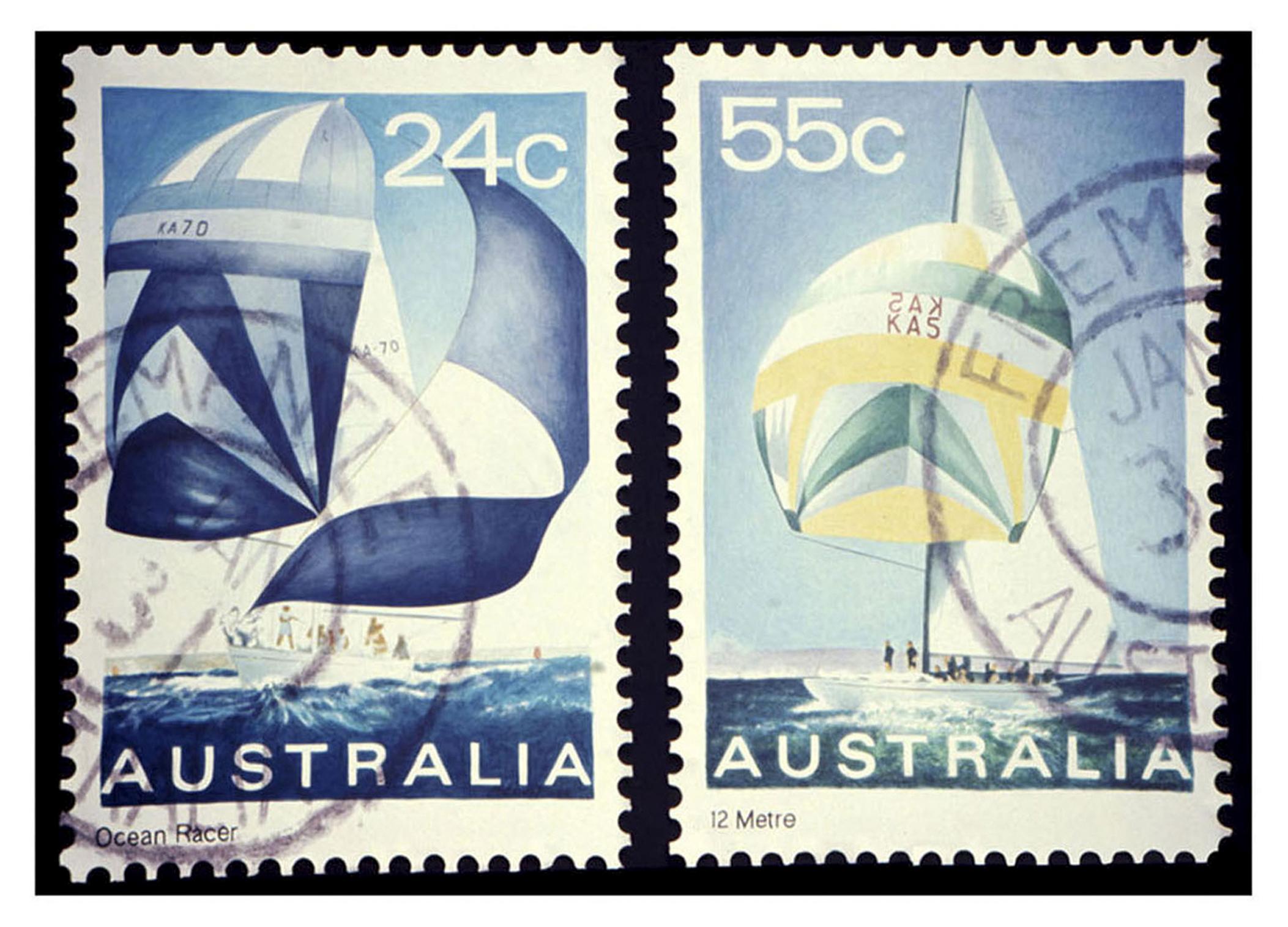 "Australia Sailboats, Acrylic on Canvas, 35"" x 48"""