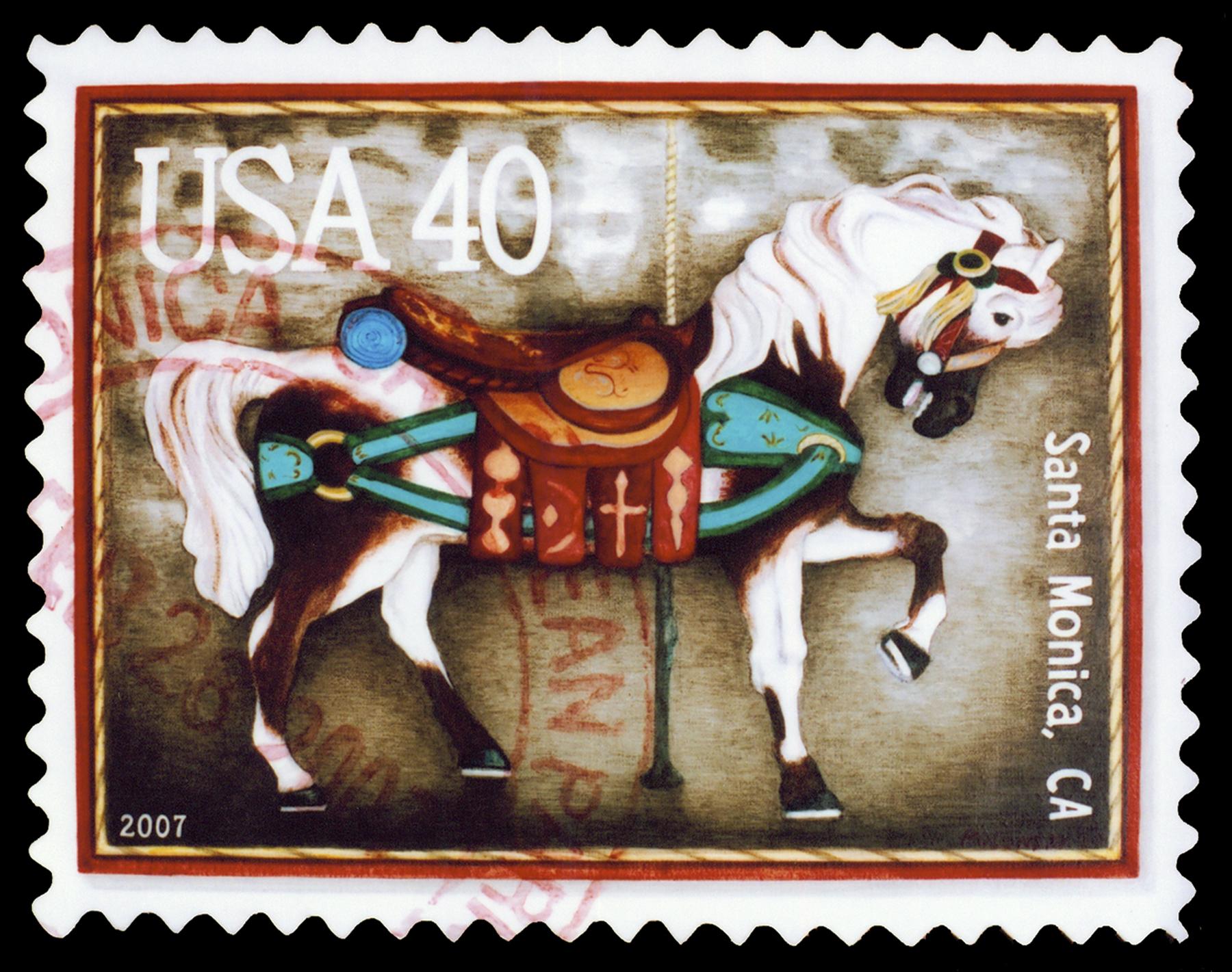 "Calico Horse, Acrylic on Canvas, 16.75"" x 20.75"""