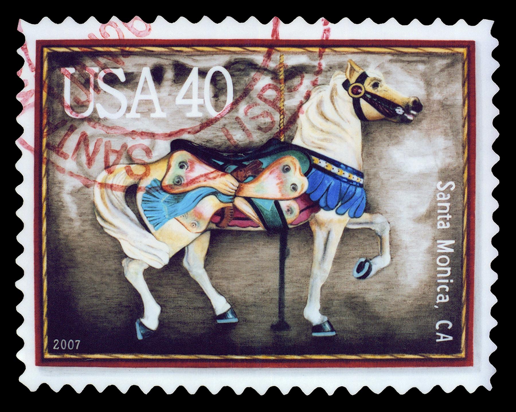 """Palomino Horse, Acrylic on Canvas, 17"""" x 21"""""""