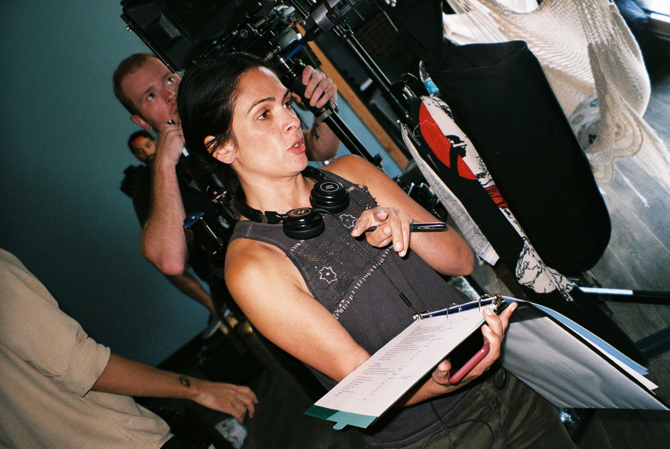 Director Alexandra Barreto on the set of 'Lady Hater'