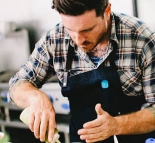 Seamus Mullen cooks at home