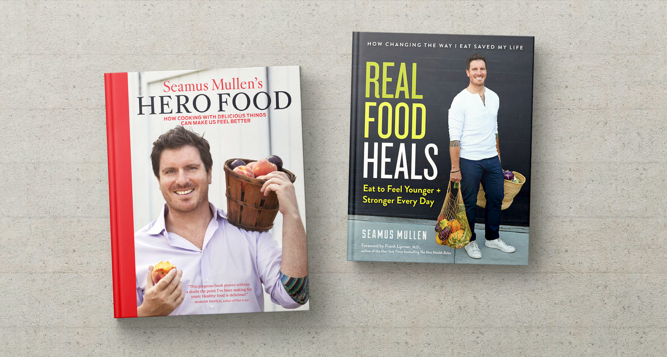Seamus Mullen's books 'Hero Food' and 'Real Food Heals' for Paleo Diet Nutrition