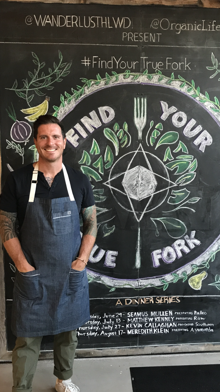 Seamus Mullen at the Find Your True Fork Dinner Series in Los Angeles