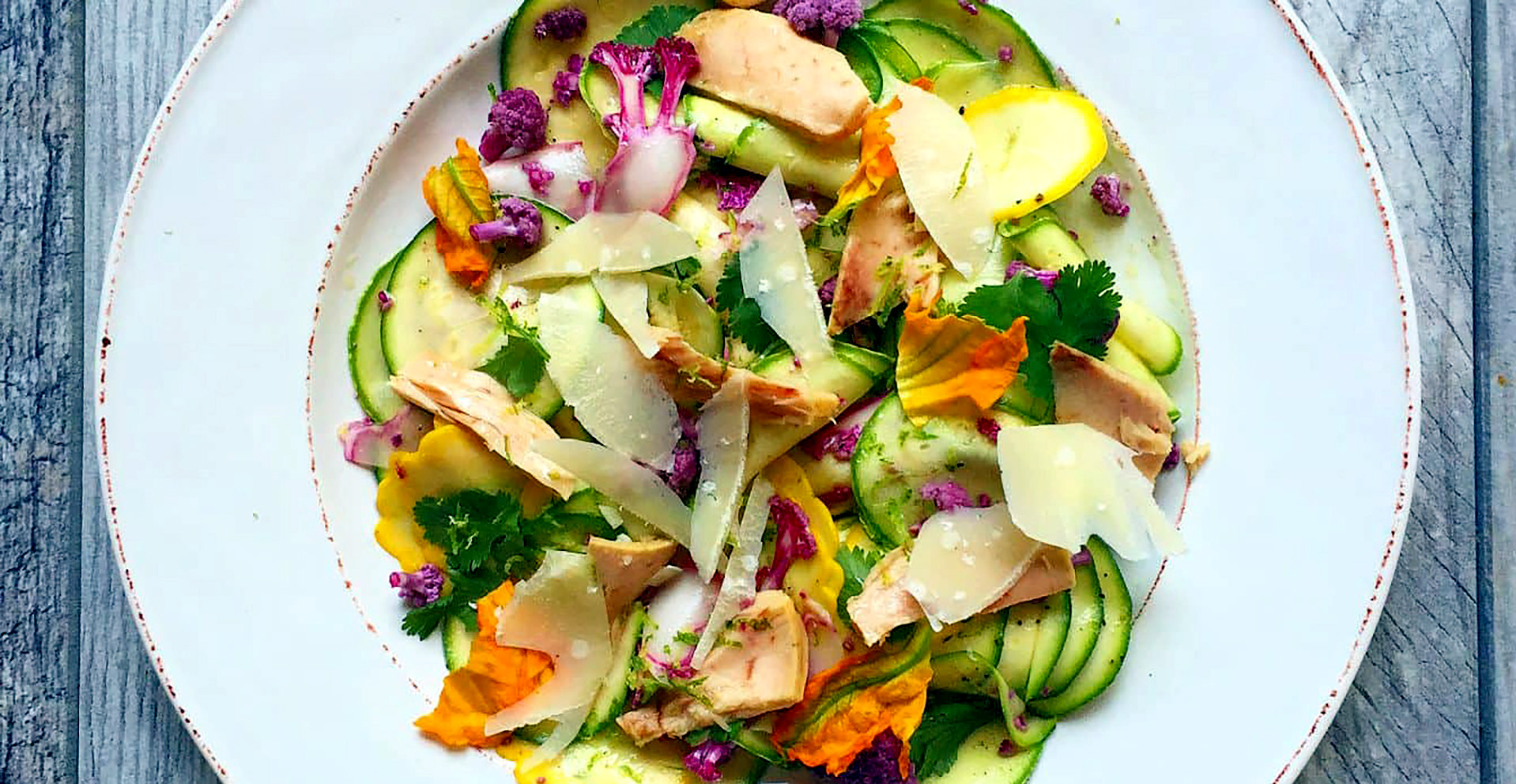 Shaved Summer Squash with Line-Caught Tuna  Recipe