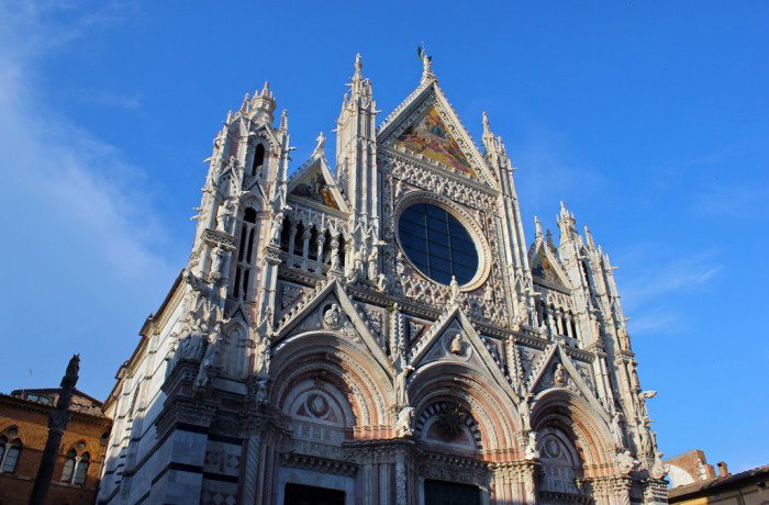 Church facade in Central Italy