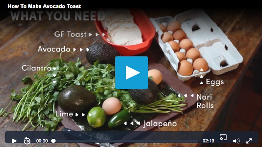 Mind Body Green + Seamus Mullen -How to Make Avocado Toast Video