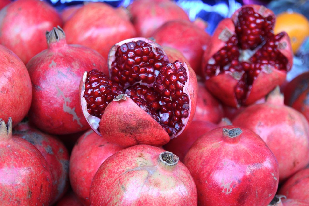 Farmer's market fresh pomegranate seeds