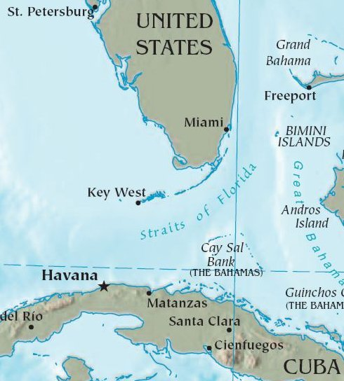 Cuba Florida 90 miles