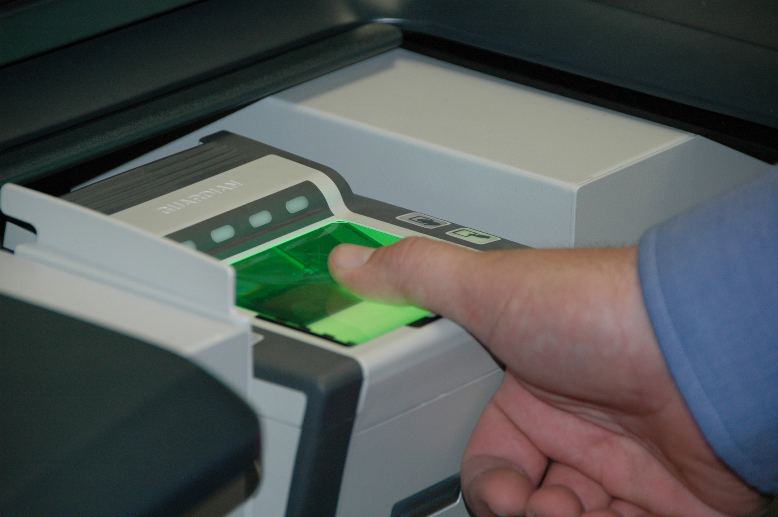 TSA Biometric Fingerprint scanners