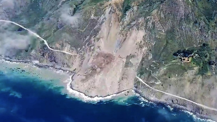 Big Sur landslide highway 1