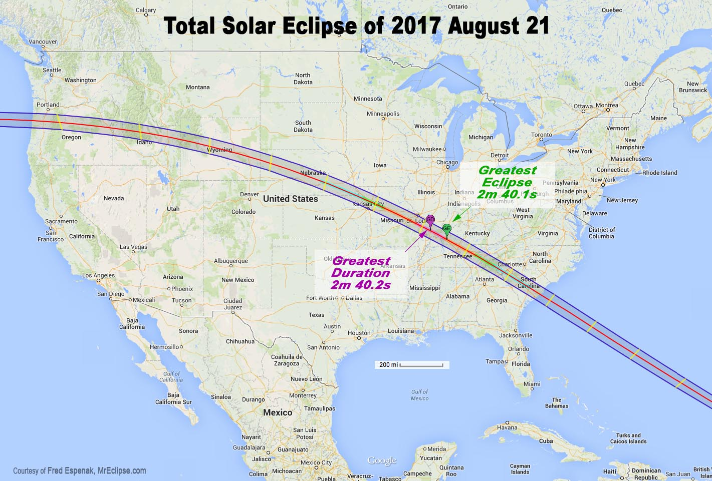 Solar eclipse podcast and path of totality