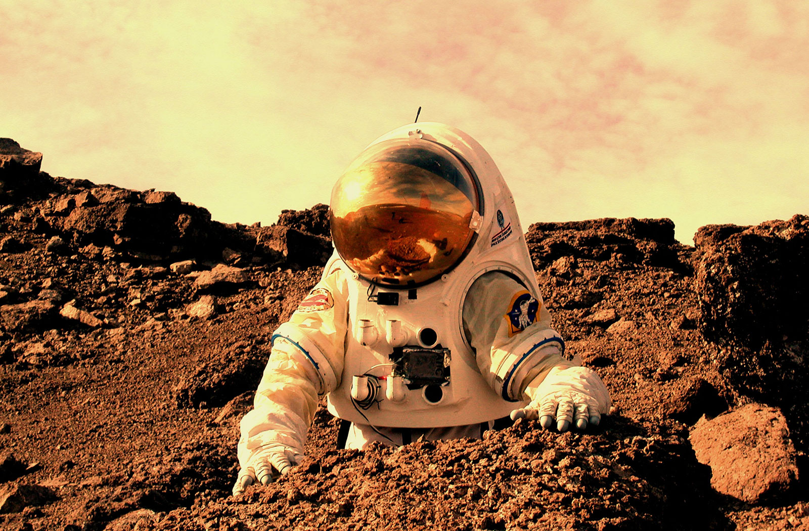 NASA rendition of an Astronaut on Mars.