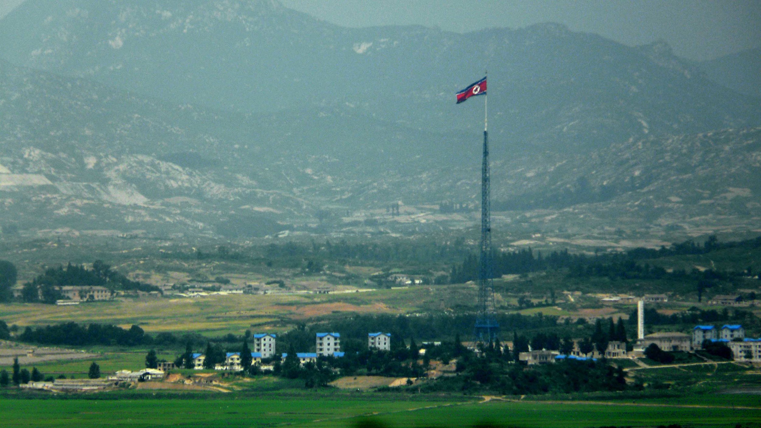 One of the tallest flagpoles in the world is in North Korea  (Photo by Kimmo Räisänen)